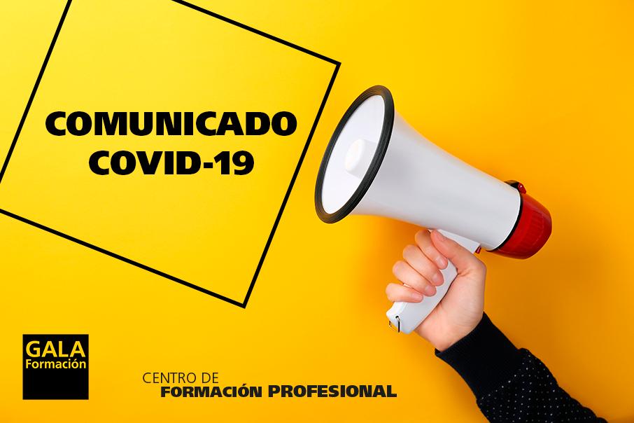 Suspendida la Formación presencial en la Comunidad de Madrid por COVID-19