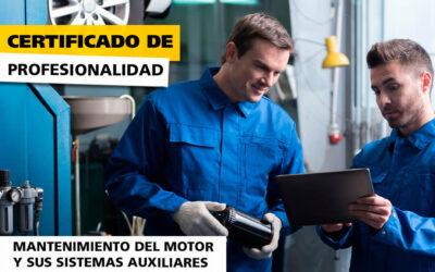 Certificado de Profesionalidad en Mantenimiento del motor y sus sistemas auxiliares.